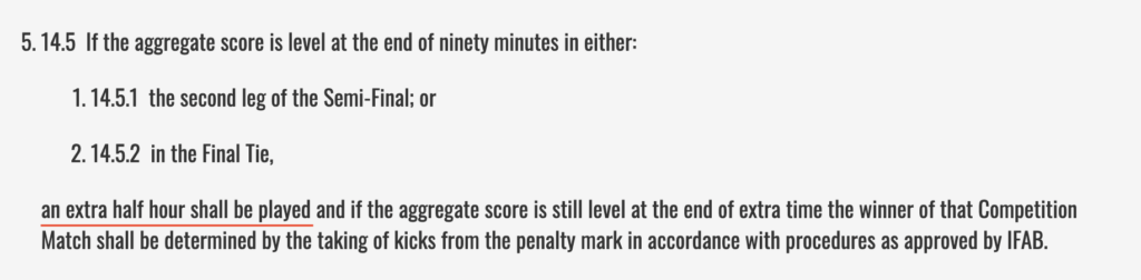 EFL Cup Extra Time And Penalty Rules